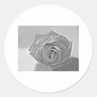Essence of a Rose 3 Classic Round Sticker