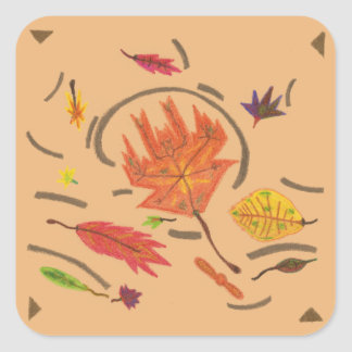 Essence of Autumn Swirling Leaves Stickers