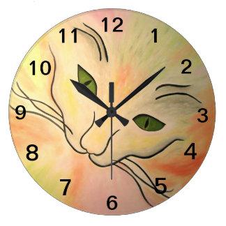 Essence of Cat Large Clock