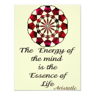 *Essence of Life* -Aristotle Quote 4.25x5.5 Paper Invitation Card
