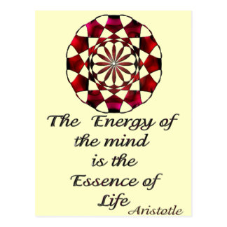 *Essence of Life* -Aristotle Quote Postcards