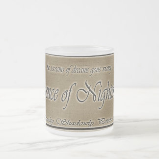 essence of nightmares frosted glass coffee mug