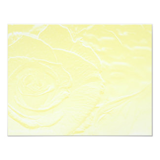Essence of Rose: Yellow 4.25x5.5 Paper Invitation Card