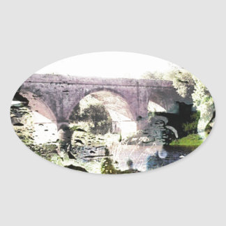 Essence of the Borders Oval Sticker