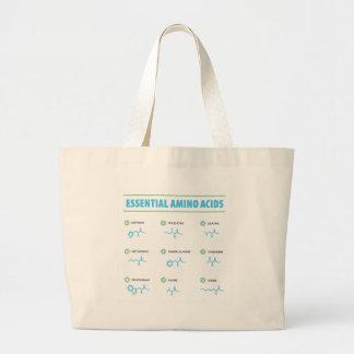 Essential Amino Acids Large Tote Bag