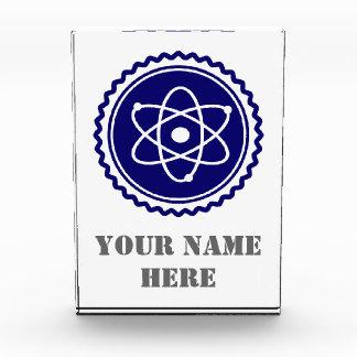 Essential Blue Atomic Model Seal Acrylic Award