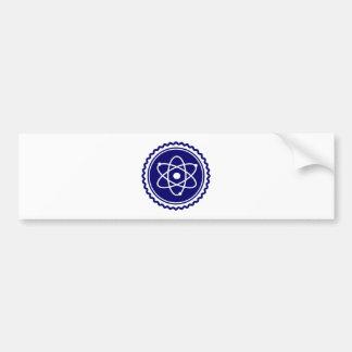 Essential Blue Atomic Model Seal Car Bumper Sticker
