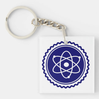 Essential Blue Atomic Model Seal Double-Sided Square Acrylic Keychain