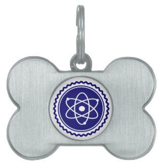 Essential Blue Atomic Model Seal Pet ID Tag