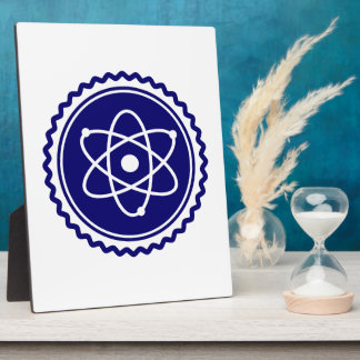 Essential Blue Atomic Model Seal Display Plaques