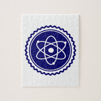 Essential Blue Atomic Model Seal Jigsaw Puzzle
