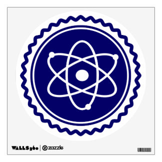 Essential Blue Atomic Model Seal Wall Stickers