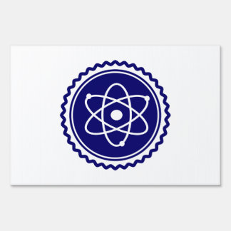 Essential Blue Atomic Model Seal Signs