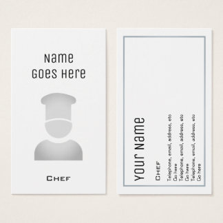 """Essential"" Chef Business Cards"