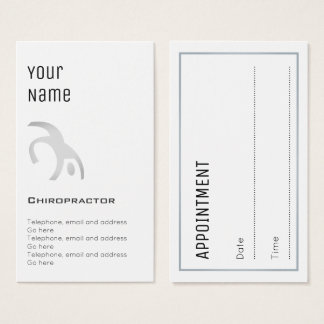 """""""Essential"""" Chiropractor Appointment Cards"""