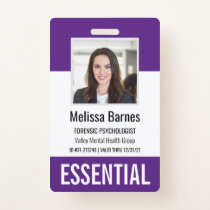 Essential Employee Photo ID Security Badge