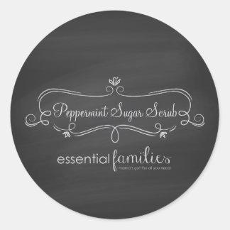 Essential Families Small Round Chalkboard Sticker