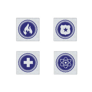 Essential • First Responder Combination Badges Stone Magnet