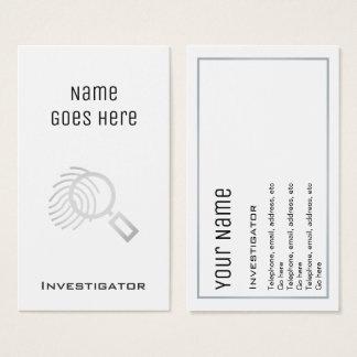 """""""Essential"""" Investigator Business Cards"""