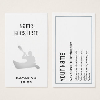 """Essential"" Kayaking Business Cards"