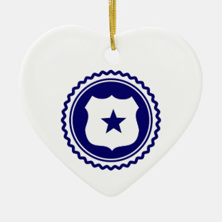 Essential • Law Enforcement Double-Sided Heart Ceramic Christmas Ornament