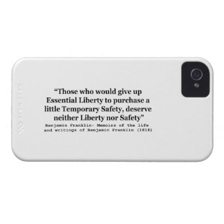 Essential Liberty and Temporary Safety Franklin iPhone 4 Cover