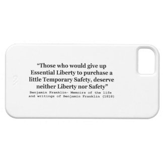 Essential Liberty and Temporary Safety Franklin iPhone SE/5/5s Case