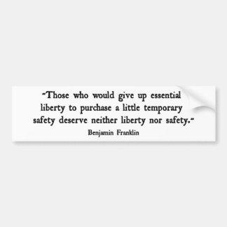 Essential Liberty Bumper Sticker