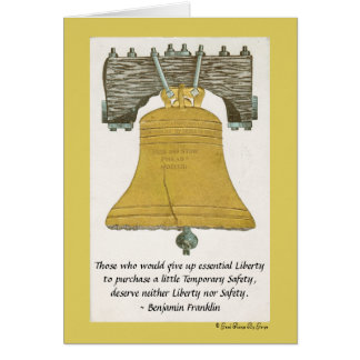 Essential Liberty by Benjamin Franklin Card