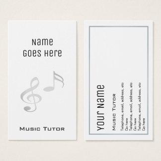 """Essential"" Music Tutor Business Cards"