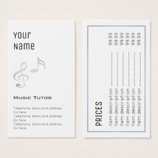 """""""Essential"""" Music Tutor Price Cards"""