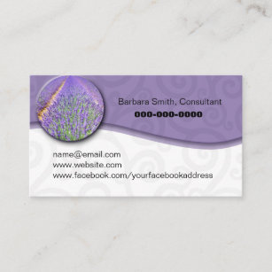 Essential oil business cards templates zazzle essential oil lavendar field business card colourmoves
