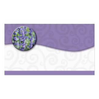 Essential oil Lavender Swirl Business Cards