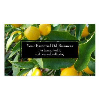 Essential Oils Business Lemon Wellness Business Card