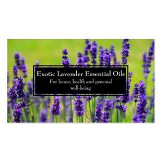 Essential Oils Business Wellness Holistic Lavender Business Card