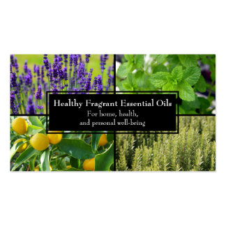 Essential Oils Business Wellness Natural Herbal Business Card