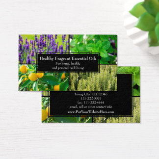 Essential Oils Business Wellness Natural Herbal Business Card