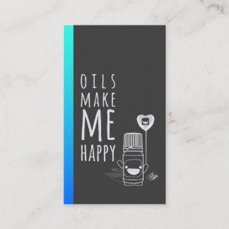 Essential Oils Make Me Happy - Business Card