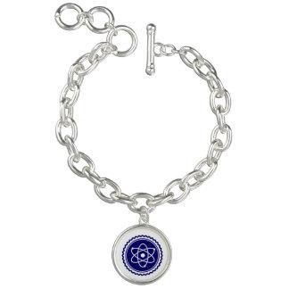 Essential Science Blue Atomic Badge Bracelets