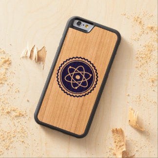 Essential Science Blue Atomic Badge Carved Cherry iPhone 6 Bumper Case