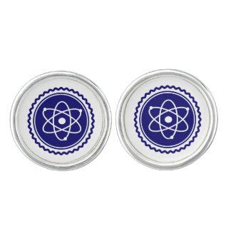 Essential Science Blue Atomic Badge Cufflinks
