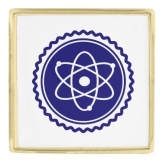 Essential Science Blue Atomic Badge Gold Finish Lapel Pin