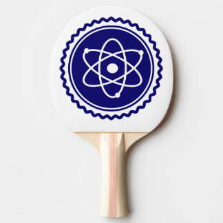 Essential Science Blue Atomic Badge Ping-Pong Paddle