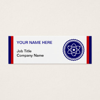 Essential Science Blue Atomic Badge Mini Business Card