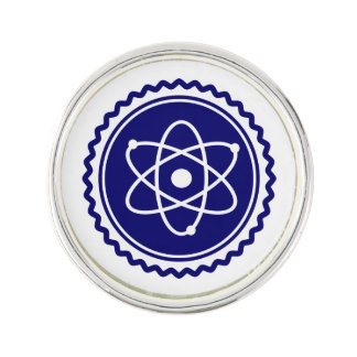 Essential Science Blue Atomic Badge Pin