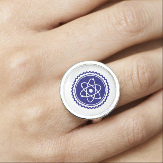 Essential Science Blue Atomic Badge Ring