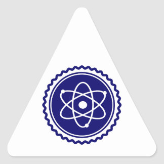 Essential Science Blue Atomic Badge Triangle Sticker