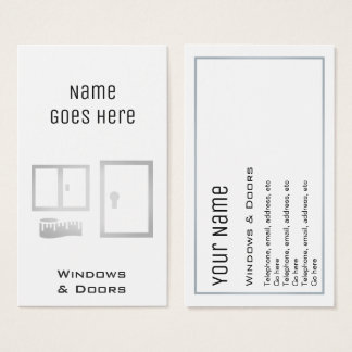 """""""Essential"""" Windows and Doors Business Cards"""