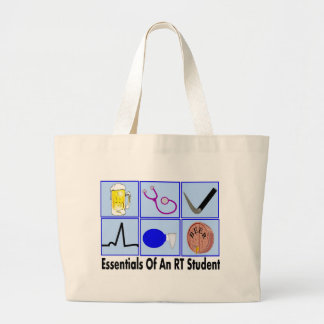 essentials of an RT STUDENT tote bag