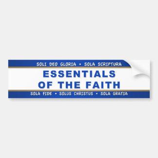 Essentials of the Faith Bumper Sticker